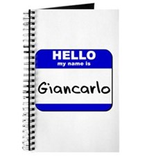hello my name is giancarlo Journal