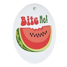 Bite Me! Ornament (Oval)