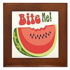 Bite Me! Framed Tile