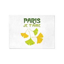 PARIS JE TAIME 5'x7'Area Rug