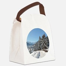 Winter in St. Moritz Canvas Lunch Bag