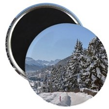 Winter in St. Moritz Magnets