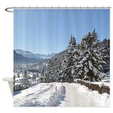 Winter in St. Moritz Shower Curtain