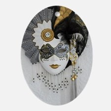 CarnivalMask006 Oval Ornament