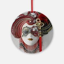 CarnivalMask007 Round Ornament