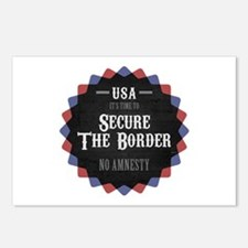 Secure The Border Postcards (Package of 8)