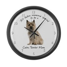 Cairn Terrier Mom Large Wall Clock