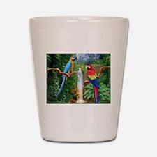 MACAW TROPICAL PARROTS Shot Glass