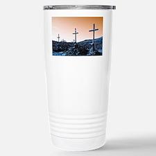 The Three Crosses Stainless Steel Travel Mug