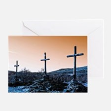 The Three Crosses Greeting Card