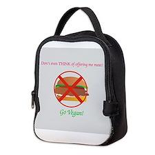 Go Vegan Neoprene Lunch Bag