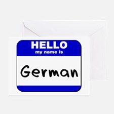 hello my name is german  Greeting Cards (Package o