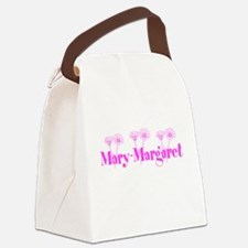 Pink Personalized Name Canvas Lunch Bag
