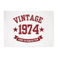 Vintage Aged to Perfection 1974 5'x7'Area Rug