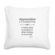 Appreciation is a wonderful thing Square Canvas Pi
