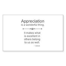 Appreciation is a wonderful thing Decal