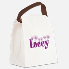 Purple Personalized Name Canvas Lunch Bag