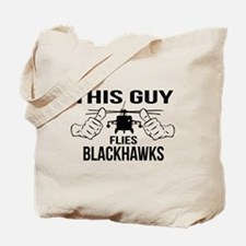 This Guys Flies Blackhawks Tote Bag