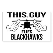 This Guys Flies Blackhawks Decal