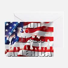 PATRIOTIC GOD BLESS AMERICA Greeting Card