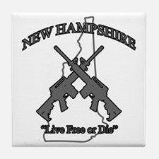 """New Hampshire """"Live Free or Die"""" Tile Coaster"""
