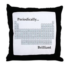 Periodically Brilliant Throw Pillow