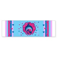 Cute Dolphin Love Bumper Bumper Sticker