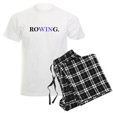 Rowing, focusing on WIN pajamas