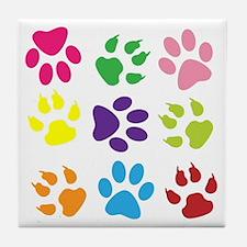 PawPrint001 Tile Coaster