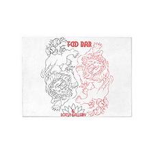 Foo Bar and Lotus Gallery FOO DOGS 5'x7'Area Rug