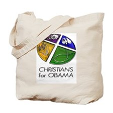 Christians for Obama Tote Bag