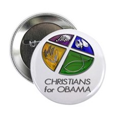 """Christians for Obama 2.25"""" Button"""