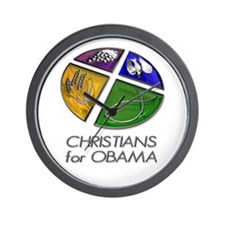 Christians for Obama Wall Clock