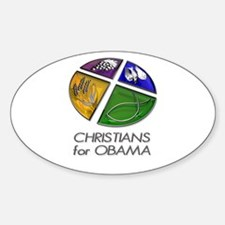 Christians for Obama Decal