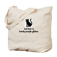 Black Cat Hair is Lonely People Glitter Tote Bag