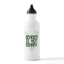 Gender Is NOT Binary Water Bottle