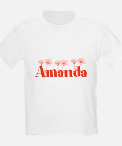 Orange Personalized Name T-Shirt