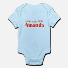 Orange Personalized Name Body Suit