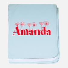 Orange Personalized Name baby blanket