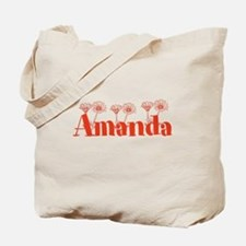 Orange Personalized Name Tote Bag