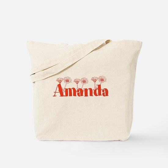 Orange Personalized Name Tote Bag