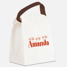 Orange Personalized Name Canvas Lunch Bag