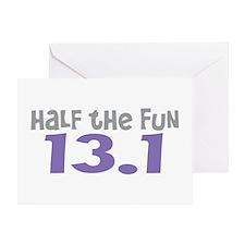Funny Half the Fun 13.1 Greeting Card