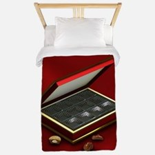 I eated it - red background Twin Duvet