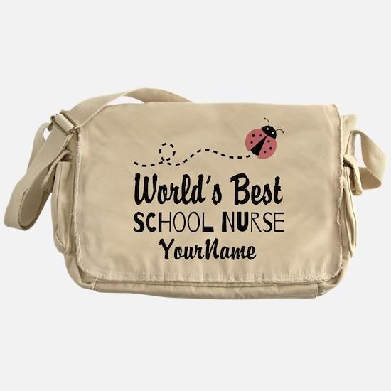 World's Best School Nurse Messenger Bag