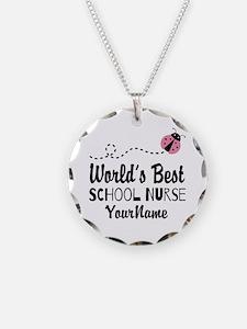 World's Best School Nurse Necklace
