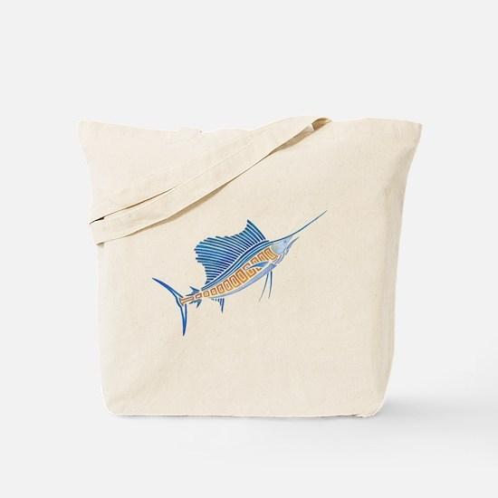 Tribal Sailfish Tote Bag