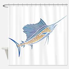 Tribal Sailfish Shower Curtain