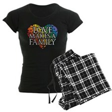 Love Makes A Family LGBT Pajamas