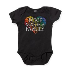 Love Makes A Family LGBT Baby Bodysuit